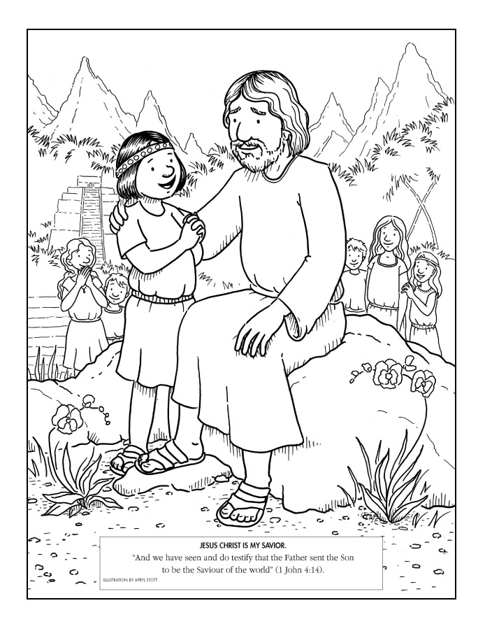 Jesus hug clipart black and white lds org svg royalty free Primarily Inclined: Coloring pages from LDS.org svg royalty free