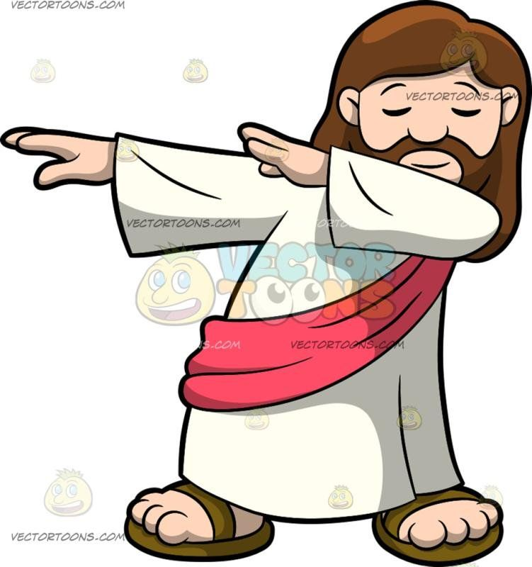 Jesus in a profile sitting position clipart clipart library stock A Dabbing Jesus Christ: Jesus Christ with long brown hair beard and ... clipart library stock