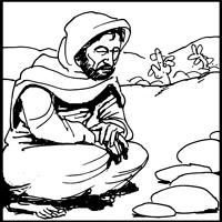 Jesus in the desert black and white clipart svg royalty free Desert Clipart Black And White | Free download best Desert Clipart ... svg royalty free