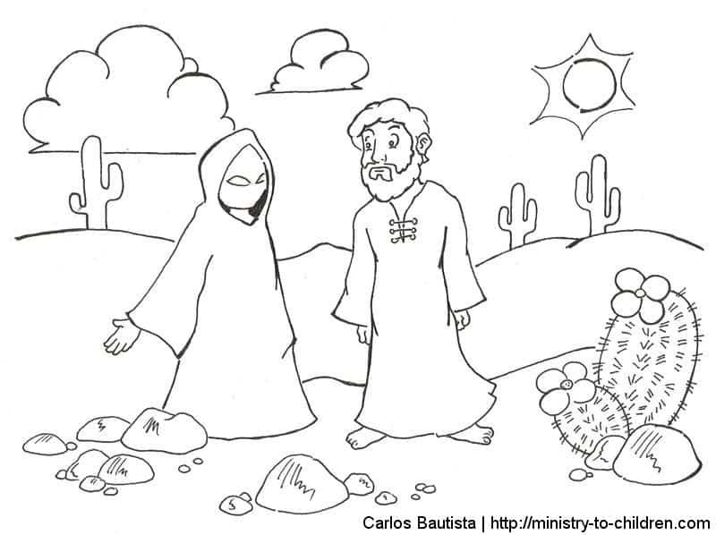 Jesus in the desert black and white clipart clip art transparent library Gospel of Mark 1.12-15 - Clipart, Coloring pages, Puzzles ... clip art transparent library