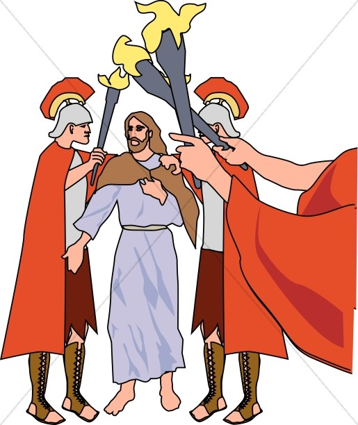 Jesus is arrested clipart vector freeuse stock Soldiers Take Jesus from the Garden | Easter Clipart vector freeuse stock