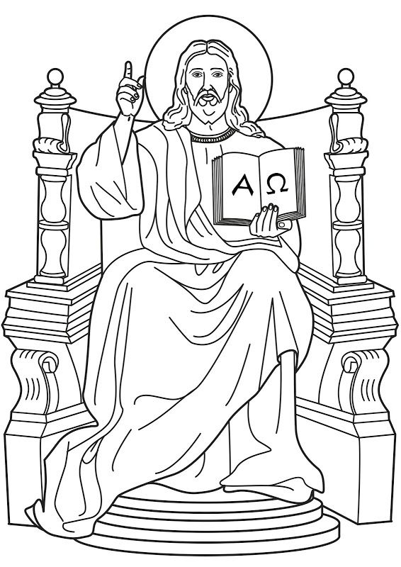 Jesus in the throne in heaven clipart clip free library Lord Jesus on the throne coloring pages | Sunday School | Jesus ... clip free library