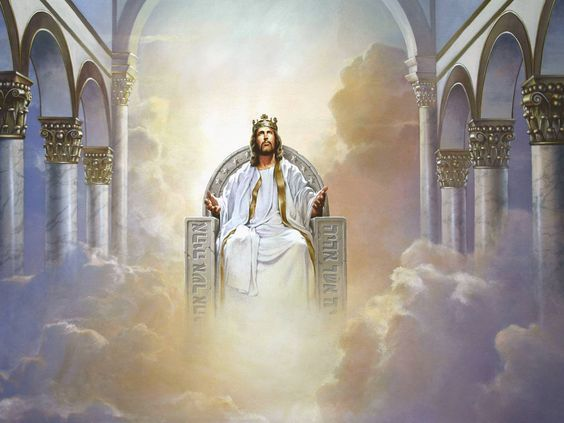 Jesus in the throne in heaven clipart clipart royalty free library Jesus christ sitting on throne clipart - image #4 | JESUS, JESUS ... clipart royalty free library