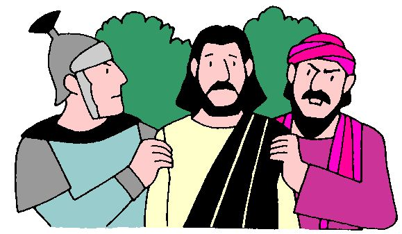 Jesus is arrested clipart clipart library stock Jesus Arrested and the Dirty that Was Made Clean clipart library stock