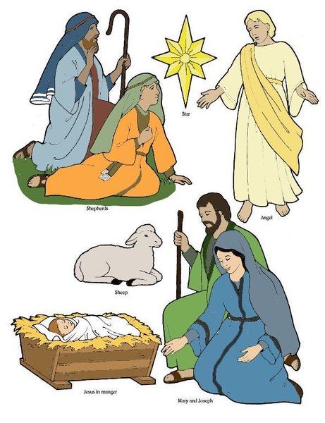 Jesus is born clipart png transparent library Jesus Christ Birth Clipart | Free Images at Clker.com - vector clip ... png transparent library