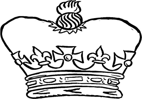 Jesus king clipart picture free library Jesus King Crown Coloring coloring page, coloring image, clipart ... picture free library