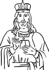 Jesus king clipart banner black and white stock Christ The King Coloring Page Coloring Pages banner black and white stock