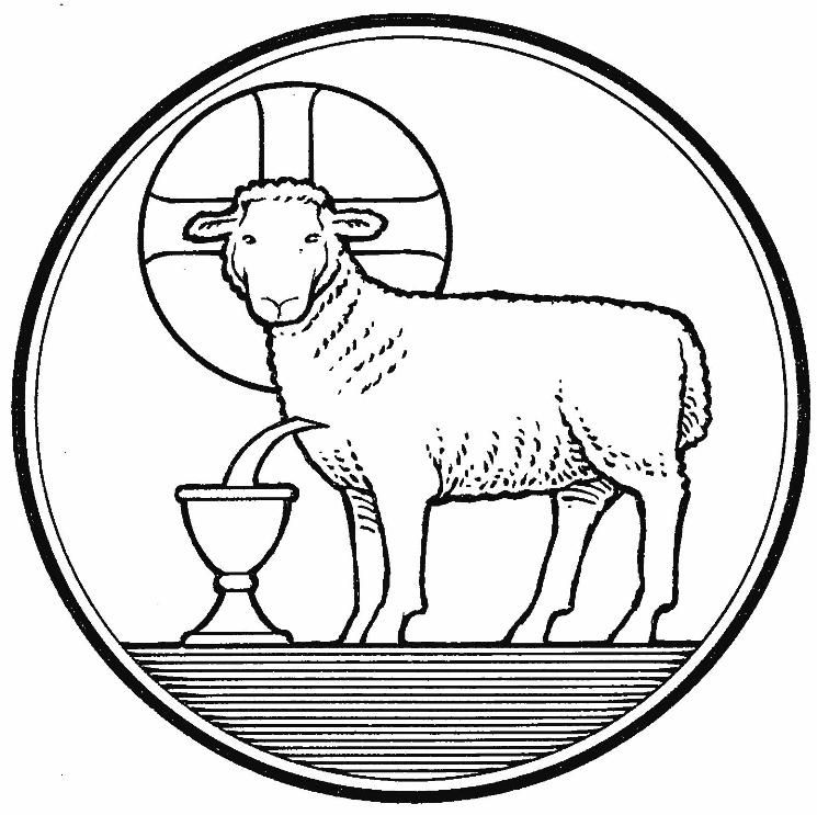 Jesus lamb of god clipart black and white banner black and white stock Gallery For > Lamb Of God Coloring Pages | Pysanky Artistry ... banner black and white stock
