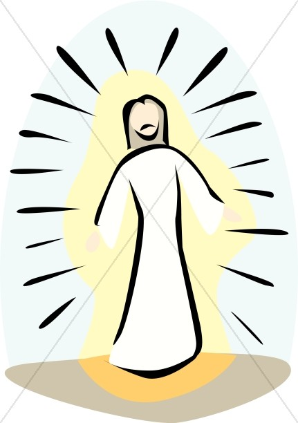 Jesus light clipart vector free Jesus Transfigured on the Mount | Transfiguration Clipart vector free