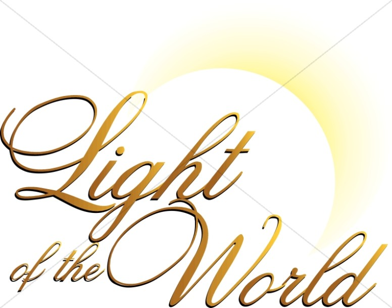 Jesus light clipart vector freeuse Light of the World with Rising Sun | Jesus WordArt vector freeuse