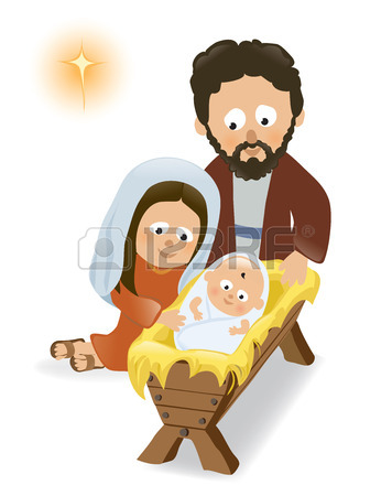 Jesus mary and joseph clipart vector download Baby Jesus, Mary And Joseph Royalty Free Cliparts, Vectors, And ... vector download