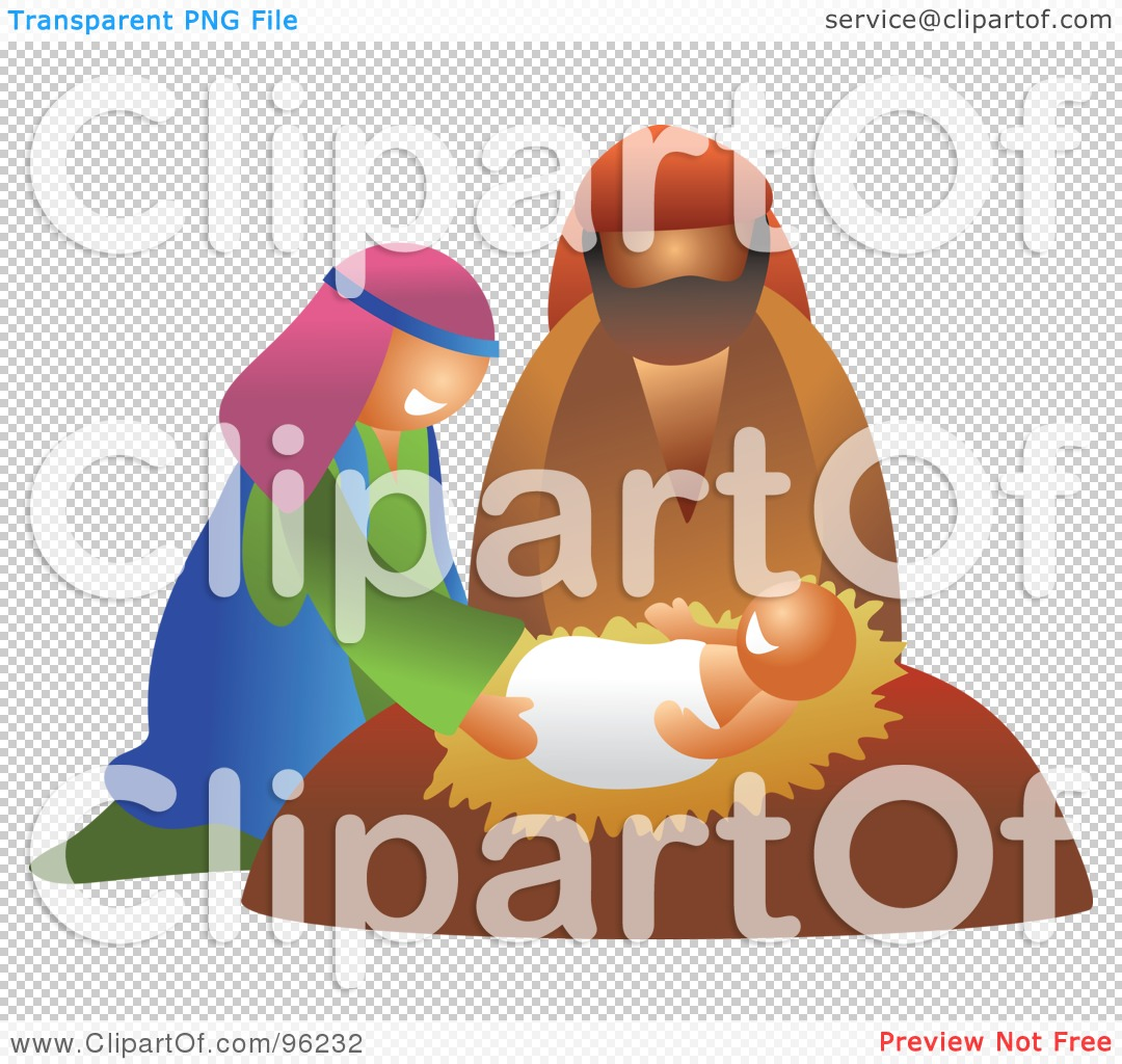 Jesus mary and joseph clipart clip art Royalty-Free (RF) Clipart Illustration of a Mary And Joseph ... clip art