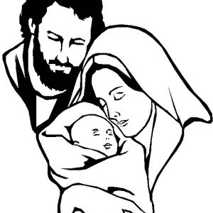 Jesus mary and joseph clipart jpg free stock 15 printable christmas coloring pages jesus amp mary nativity ... jpg free stock