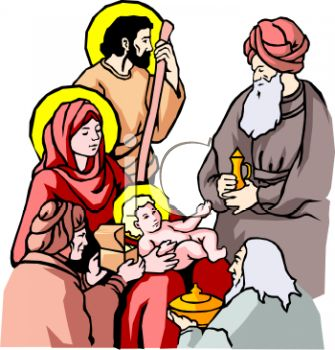 Jesus mary and joseph clipart graphic free download Three Wise Men, Joseph and Mary, and the Baby Jesus - Royalty Free ... graphic free download