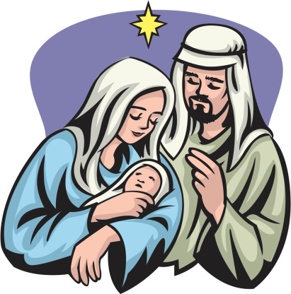 Jesus mary and joseph clipart clip art transparent stock Joseph and jesus clipart - ClipartFest clip art transparent stock
