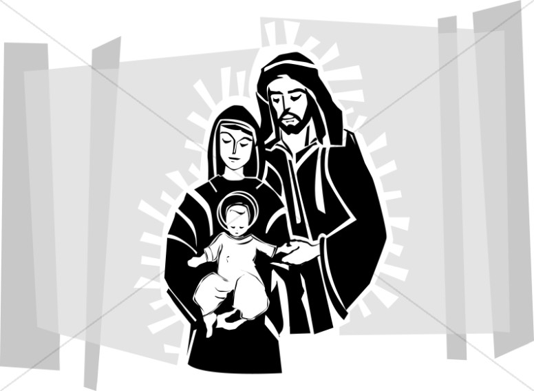 Jesus mary and joseph clipart picture freeuse Jesus, Mary and Joseph | Nativity Clipart picture freeuse