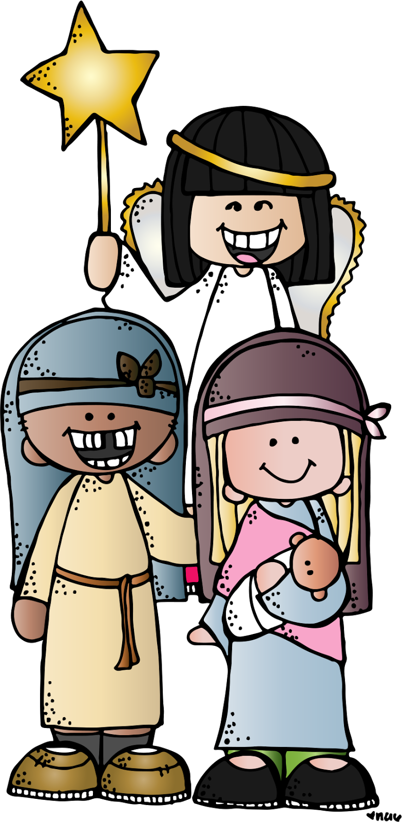 Jesus mary and joseph clipart clip art freeuse library Melonheadz LDS illustrating | melonheadz | Pinterest | Christmas eve ... clip art freeuse library