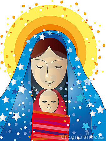 Jesus mary clipart banner library library Jesus Christ, Mary - Illustration For The Children Stock Image ... banner library library
