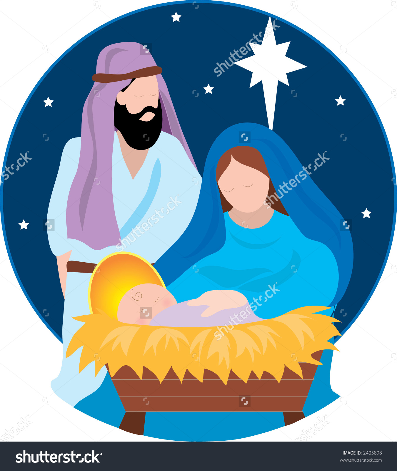 Jesus mary clipart svg black and white download Jesus mary joseph and star clipart - ClipartFest svg black and white download