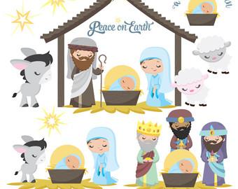 Jesus mary joseph christmas clipart svg black and white download Jesus mary joseph | Etsy svg black and white download