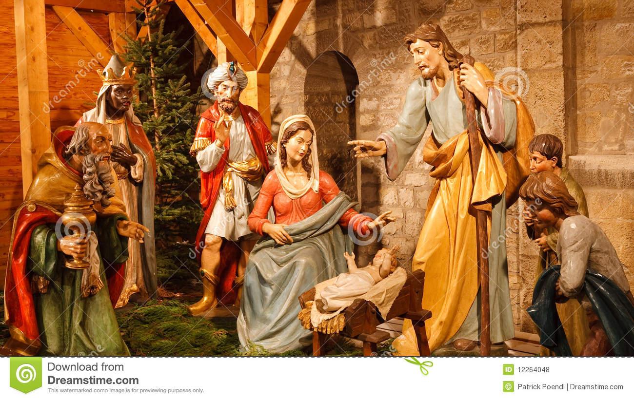 Jesus mary joseph christmas clipart graphic Christmas Nativity Scene: Baby Jesus, Mary, Joseph Royalty Free ... graphic