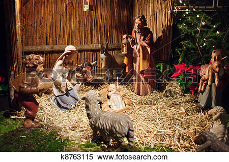 Jesus mary joseph christmas clipart picture free Stock Image of Christmas nativity scene with three Wise Men ... picture free