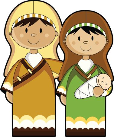 Jesus mary joseph christmas clipart svg freeuse Mary joseph and baby jesus clipart - ClipartFox svg freeuse