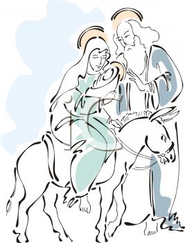 Jesus mary joseph clipart image transparent library Mary and Baby Jesus with Joseph - Clipart Image image transparent library