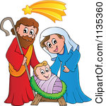 Jesus mary joseph clipart png royalty free download Royalty-Free (RF) Clipart Illustration of a Nativity Scene With ... png royalty free download