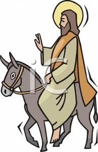 Jesus on donkey clipart clip black and white library Clipart Picture: Holy Jesus Riding on a Donkey clip black and white library