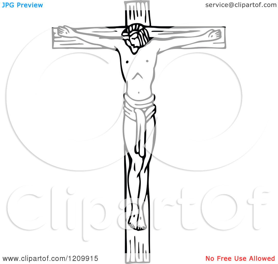 Jesus on the cross with mary clipart clipart free download Clipart of a Black and White Scene of Jesus the Saviour on the ... clipart free download