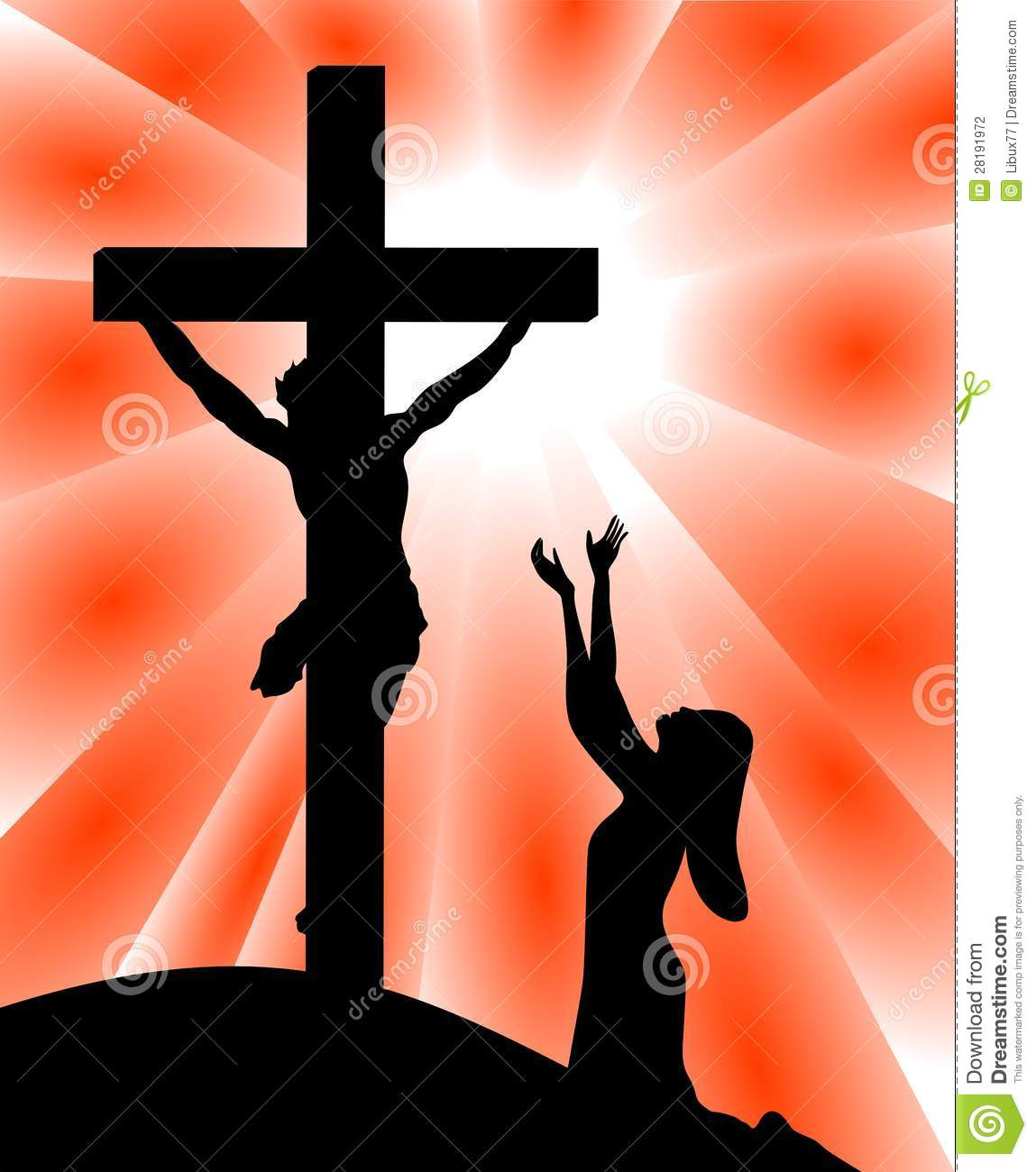 Jesus on the cross with mary clipart clipart library Clipart of mary praying at jesus cross - ClipartFox clipart library