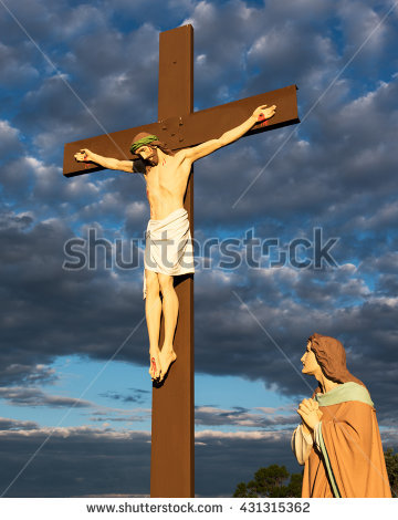 Jesus on the cross with mary clipart transparent download Jesus Christ Paradise Cross Jesus Christ Stock Photo 298467503 ... transparent download