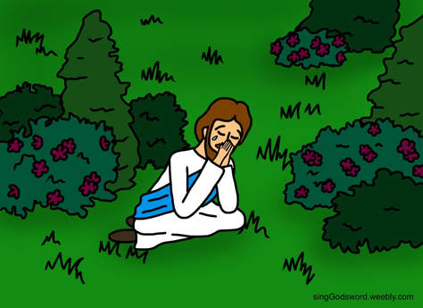 Jesus praying in the garden clipart clip art freeuse Children\'s bible class - Sing God\'s Word clip art freeuse