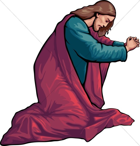 Jesus prayiong clipart svg black and white stock Jesus in Prayer | Jesus Clipart svg black and white stock