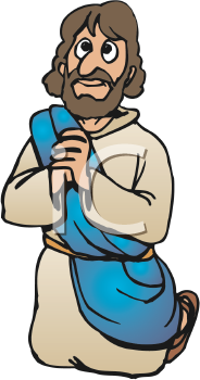 Jesus prayiong clipart svg free Royalty Free Clipart Image of Jesus Praying #280145 | iCLIPART.com svg free