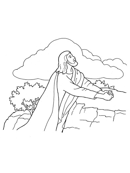 Jesus prays in garden clipart black and white vector black and white Jesus praying in the garden of gethsemane clipart 6 » Clipart Portal vector black and white