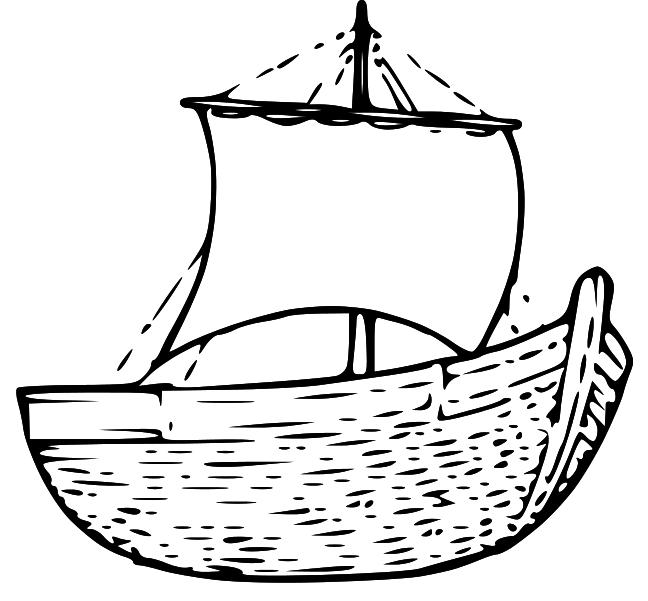 Jesus row boat clipart