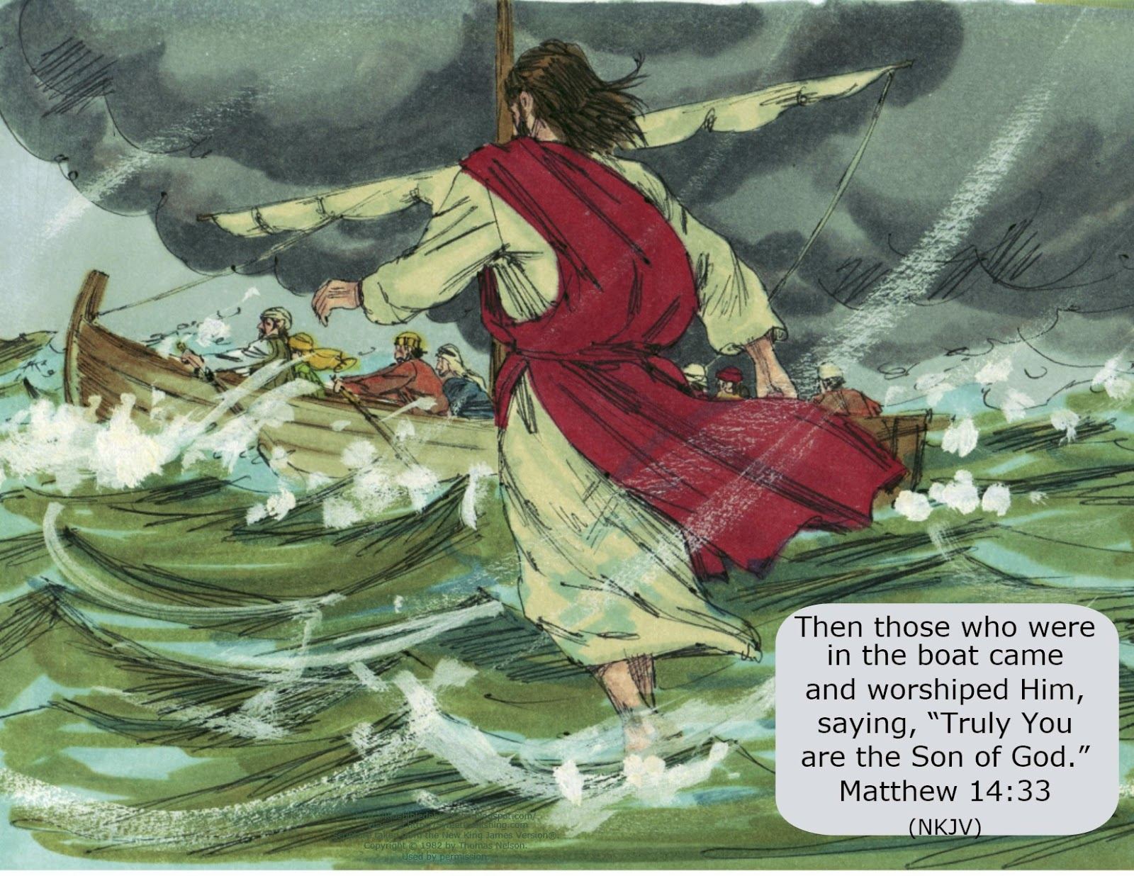 Jesus row boat clipart graphic transparent library Bible Fun For Kids: Jesus Walks on Water graphic transparent library