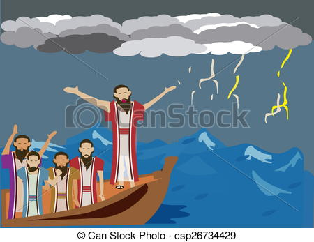 Jesus row boat clipart clip art transparent stock Clip Art of Wind and the sea obey Jesus - While Jesus and ... clip art transparent stock