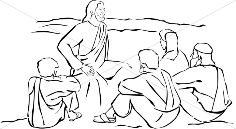Jesus teaching in the temple clipart black and white clip art free download Jesus Sitting and Teaching | Jesus Clipart clip art free download