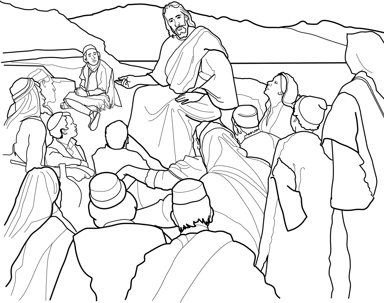 Jesus teaching in the temple clipart black and white vector free library Free Jesus Teaching Cliparts, Download Free Clip Art, Free Clip Art ... vector free library