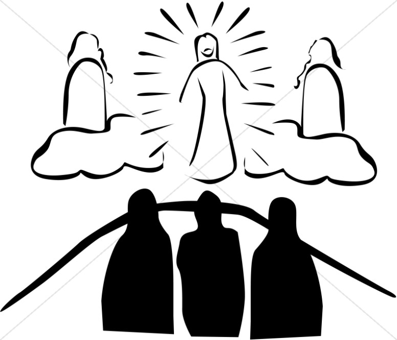 Witnessing for jesus clipart jpg royalty free download Black and White Transfiguration | Transfiguration Clipart jpg royalty free download