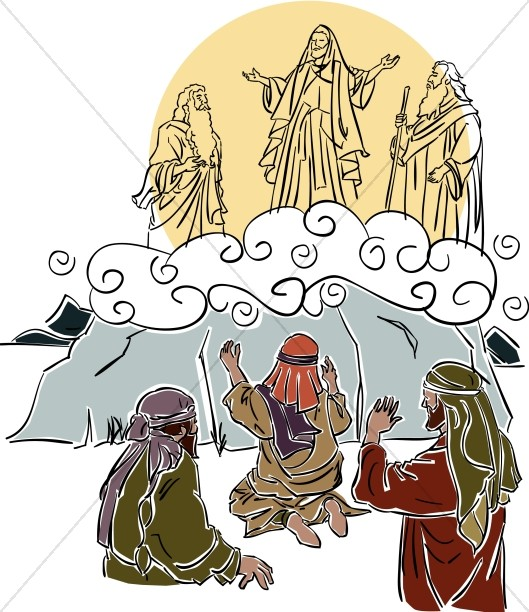 Transfiguration hill cliparts image download Jesus\' Transfiguration | Transfiguration Clipart image download