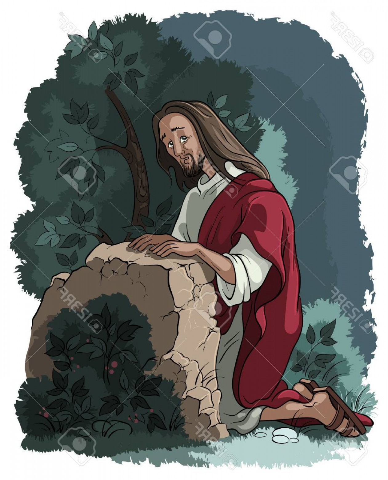 Jesus walking in the garden free clipart clip art black and white stock Jesus Walking In The Garden Free Clipart | GeekChicPro clip art black and white stock