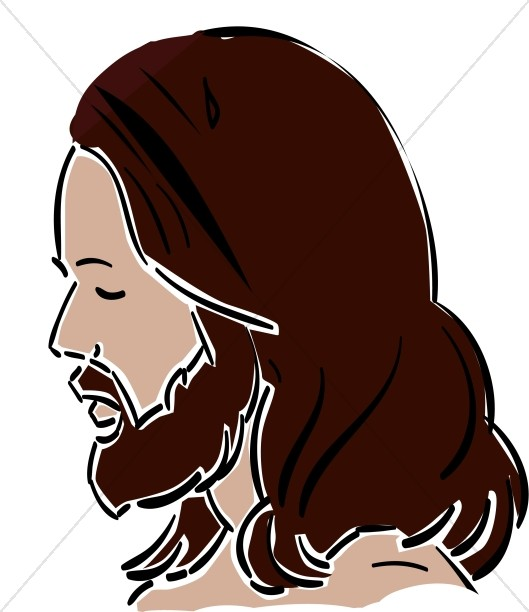 Jesus walking in the garden free clipart image stock Side View of Jesus | Jesus Clipart image stock