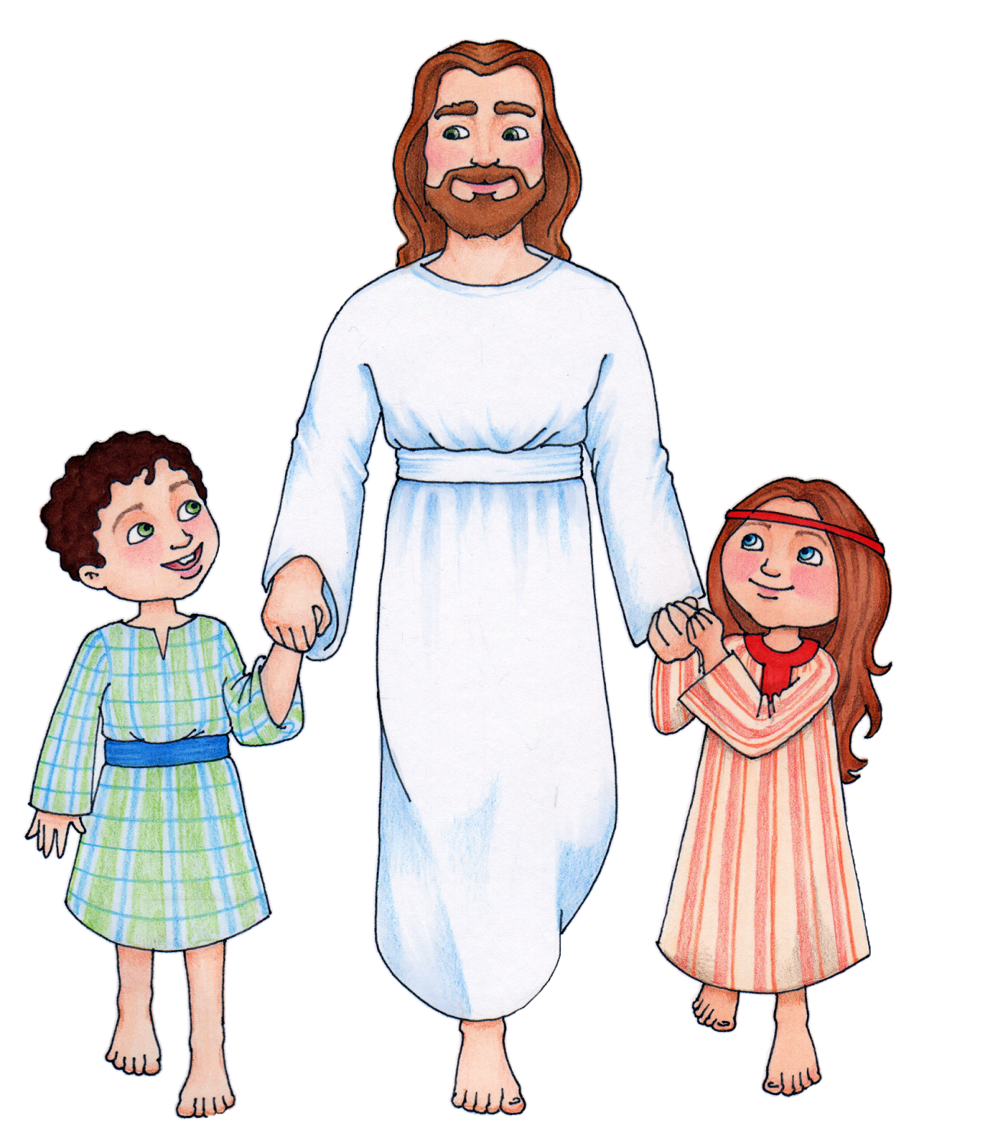 Jesus with with us clipart picture free Jesus and kids clipart - ClipartFest picture free