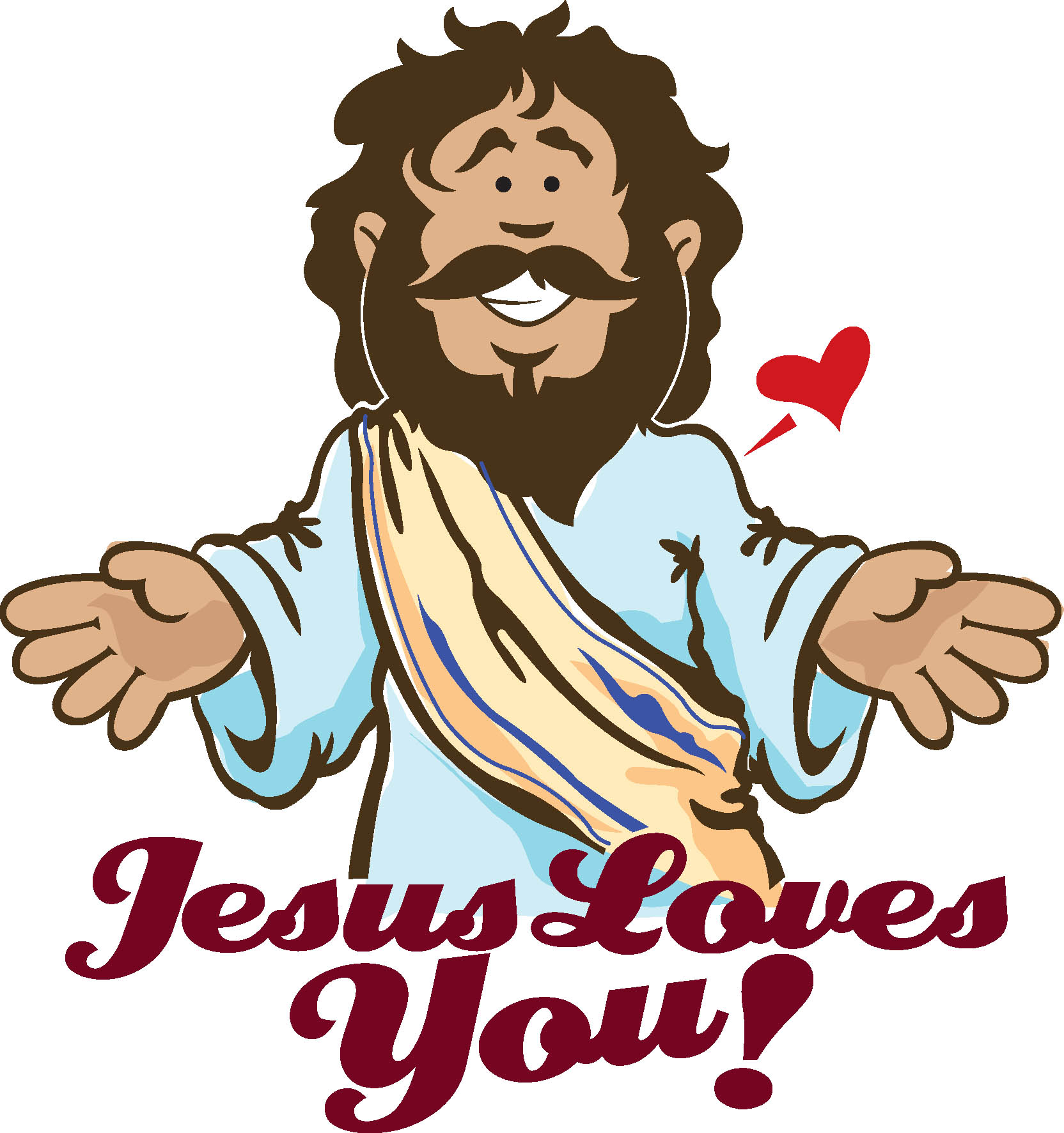 Jesus with with us clipart image download Jesus Loves You Clipart image download