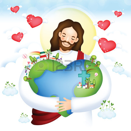 Jesus with with us clipart clip freeuse stock Jesus hugging us clipart - ClipartFox clip freeuse stock