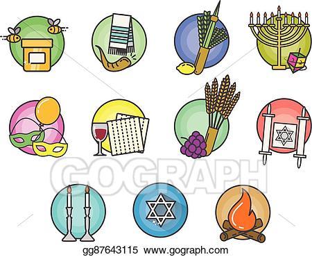 Jewish holiday symbols clipart clip art stock Jewish Holiday Symbols - Clip Art Library #472443 - Clipartimage.com clip art stock